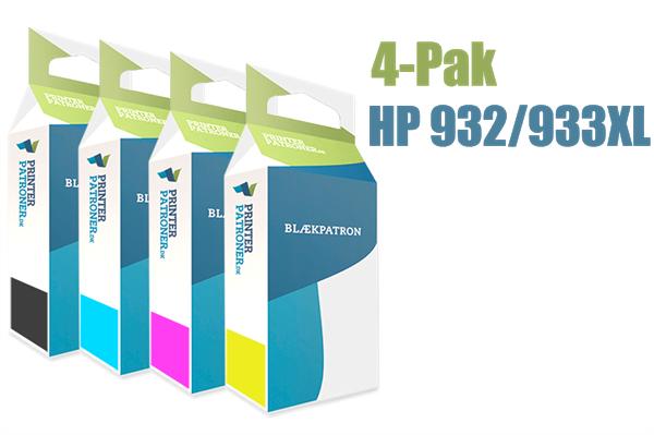 Image of   4-Pak B/C/M/Y patroner - HP 932XL/933XL - 1x1000+3x825 sider
