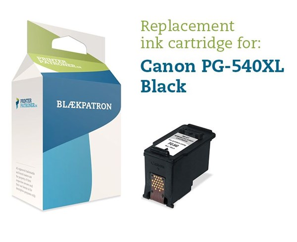 Image of   Sort blækpatron - Canon PG-540XL - 23 ml