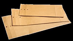 Prøvepose brun natur 160x340x60