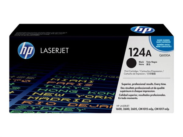 Sort lasertoner - hp q6000a - 2.500 sider