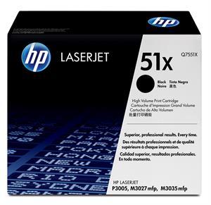 Sort lasertoner - hp q7551x nr.51 x - 13.000 sider