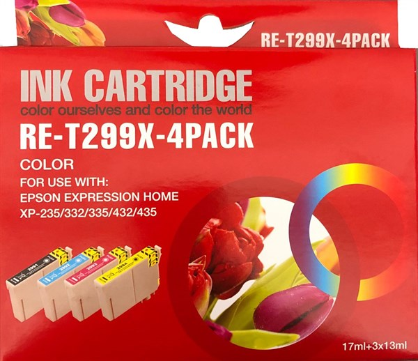 Image of   4-Pak B/C/M/Y patroner - Epson 29XL - 1x17+3x13 ml