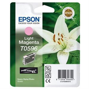 Light magenta blækpatron 596 - epson - 13ml. fra N/A fra printerpatroner.dk