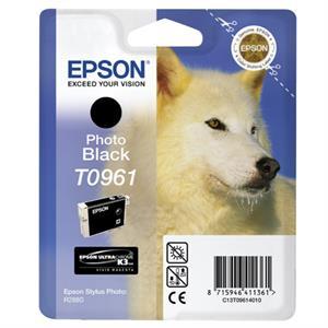 Photo sort blækpatron - Epson 961 - 11,4ml.
