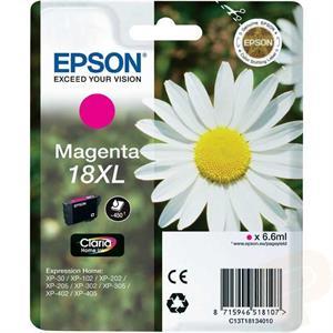 Magenta blækpatron 18xl - epson - 6,6ml. fra N/A på printerpatroner.dk