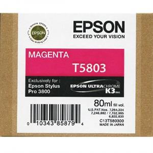 Magenta blækpatron 5803 - epson - 80ml. fra N/A fra printerpatroner.dk