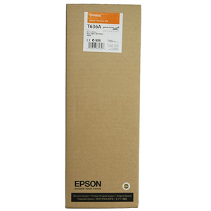 Orange blækpatron - epson t636a - 700ml.