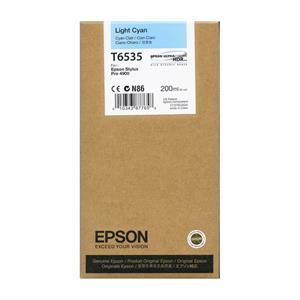 N/A Light cyan blækpatron - epson t6535a - 200ml. på printerpatroner.dk