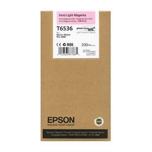 Light magenta blækpatron - Epson T6536A - 200ml.