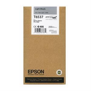 Light sort blækpatron - Epson T6537A - 200ml.