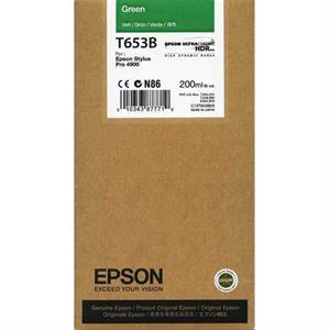 Grøn blækpatron - epson t653b - 200ml. fra N/A på printerpatroner.dk