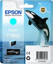 Image of   Cyan blækpatron 7602 - Epson -