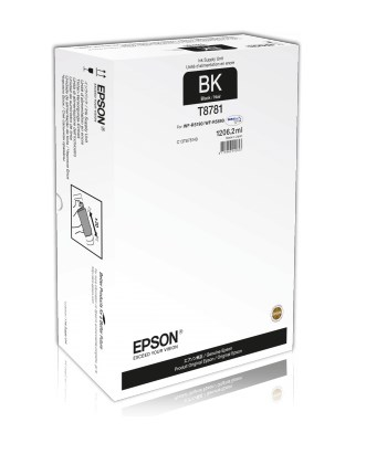 Sort blækpatron - Epson T8781 - 1206,2 ml