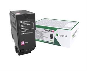Magenta Lasertoner - Lexmark 75B20M0 - 10.000 Sider