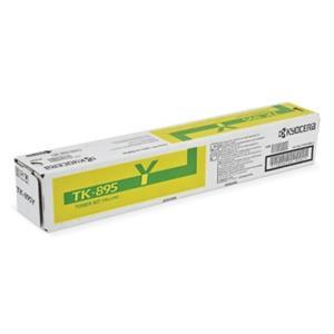 Gul lasertoner TK895 - Kyocera - 6.000 sider.