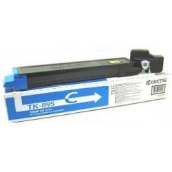Cyan lasertoner TK895 - Kyocera - 6.000 sider.