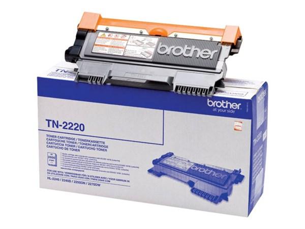 Sort lasertoner 2220 - Brother - 2.600 sider.