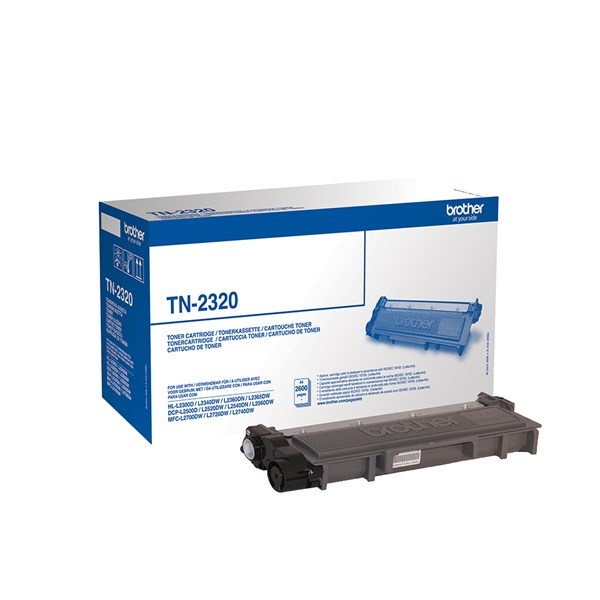 Image of   Sort lasertoner - Brother TN-2320 - 2.600 sider