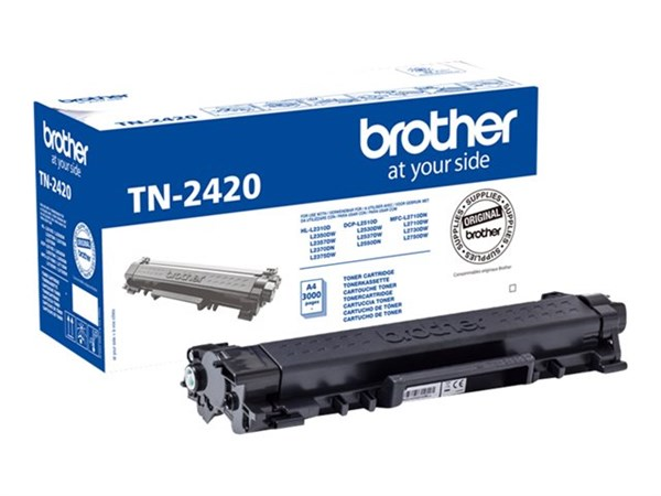 Image of   Sort lasertoner - Brother TN-2420 - 3.000 sider