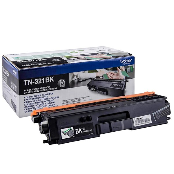 Image of   Sort lasertoner TN-321BK - Brother - 2.500 sider.