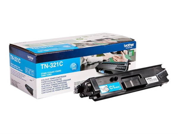Image of   Cyan lasertoner 321C - Brother - 1.500 sider.