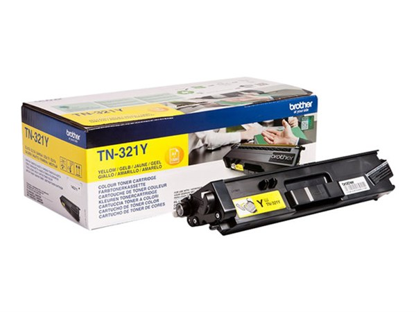 Image of   Gul lasertoner TN-321Y - Brother - 1.500 sider.