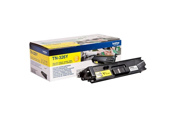 Image of   Gul lasertoner TN326Y - Brother - 3.500 sider.