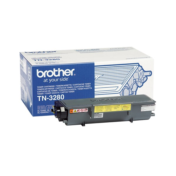 Image of   Sort lasertoner 3280 - Brother - 8.000 sider.