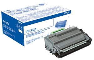 Image of   Sort lasertoner 3520 - Brother - 20.000 sider