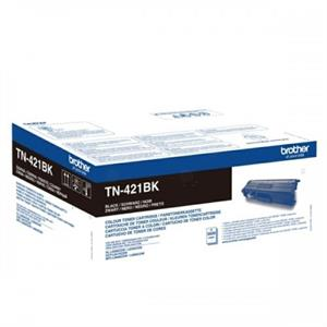 Image of   Sort lasertoner TN421BK - Brother - 3.000 sider.